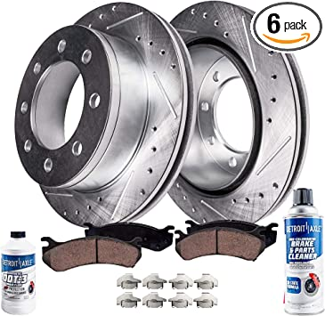 Front Brake Rotors Ceramic Pads For 2004 2005 2006 2007 2008 Ford F150 4X4 4WD