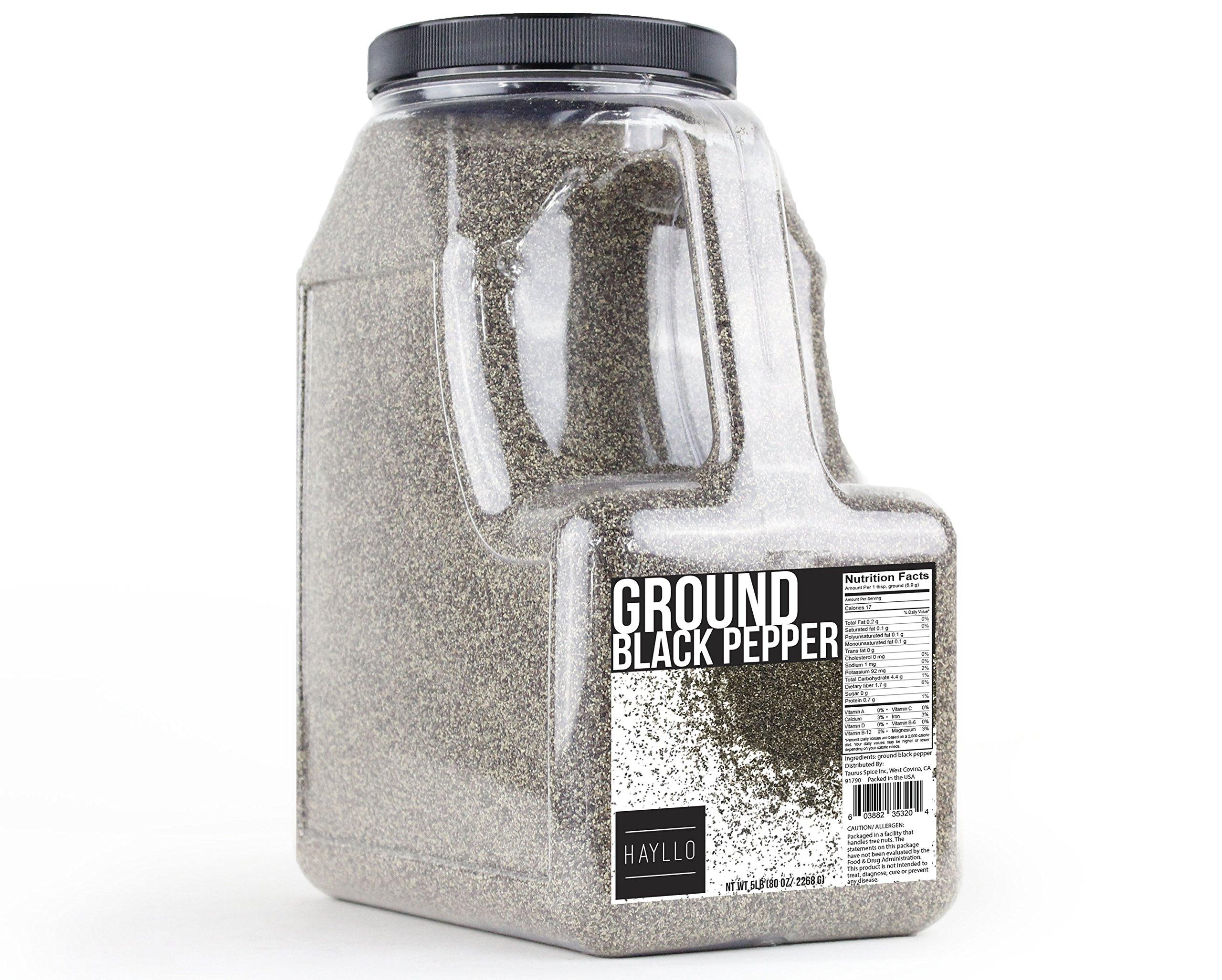 Hayllo Ground Black Pepper , 5 Pound by Hayllo (Image #1)