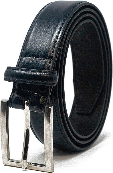 girovita 80cm - 150cm Ashford Ridge 30mm Nero e Marrone cinture in pelle Set regalo per gli uomini