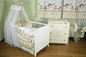 Baby Bettwäsche Set Eule New Design 8 Tlg Braun Amazonde Baby