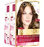 L'Oréal Paris Excellence Couleur Permanente 5,30 Châtain Clair Doré - Lot de 2