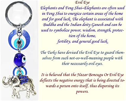 FCS Elephant Key Ring with Turkish Evil Eye to Protect  Amazon.in   Electronics 5de5c33373cc