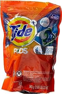 Tide 4 In 1 Pods Plus Febreze Laundry Detergent Packs, Botanical Rain, 32 Count