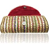 Tabelito Clutch,005 Women's ethnic, designer, handcrafted Silk Party Clutches for womes and girls