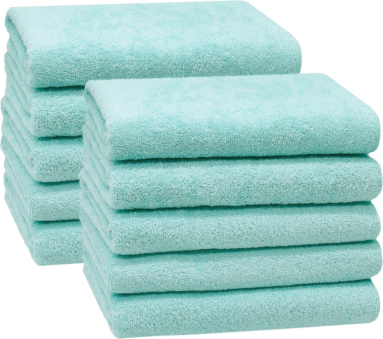 Zollner 10er Set Handtücher 50x100 Cm 100 Baumwolle 400 G Qm Mint Küche Haushalt