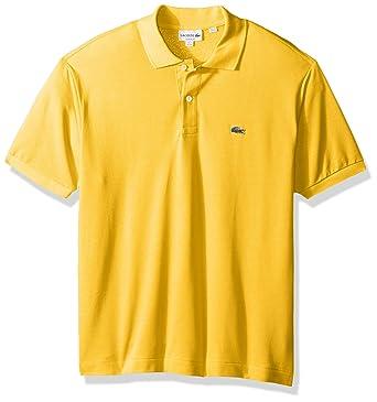 Lacoste Men's Short Sleeve Pique L.12.12 Classic Fit Polo Shirt, Past  Season,