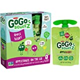 GoGo squeeZ Applesauce, Apple Berry, 4 Pouches (pack of 48)