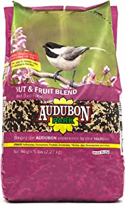 Audubon Park 12226 Nut and Fruit Blend Wild Bird Food, 5-Pounds