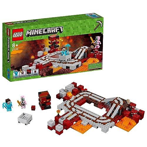 LEGO Minecraft - Les rails du Nether - 21130 - Jeu de Construction