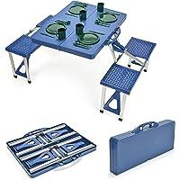 Trademark Innovations TBLE-PCNC-PORTBU Portable Folding Picnic Table with 4 Seats