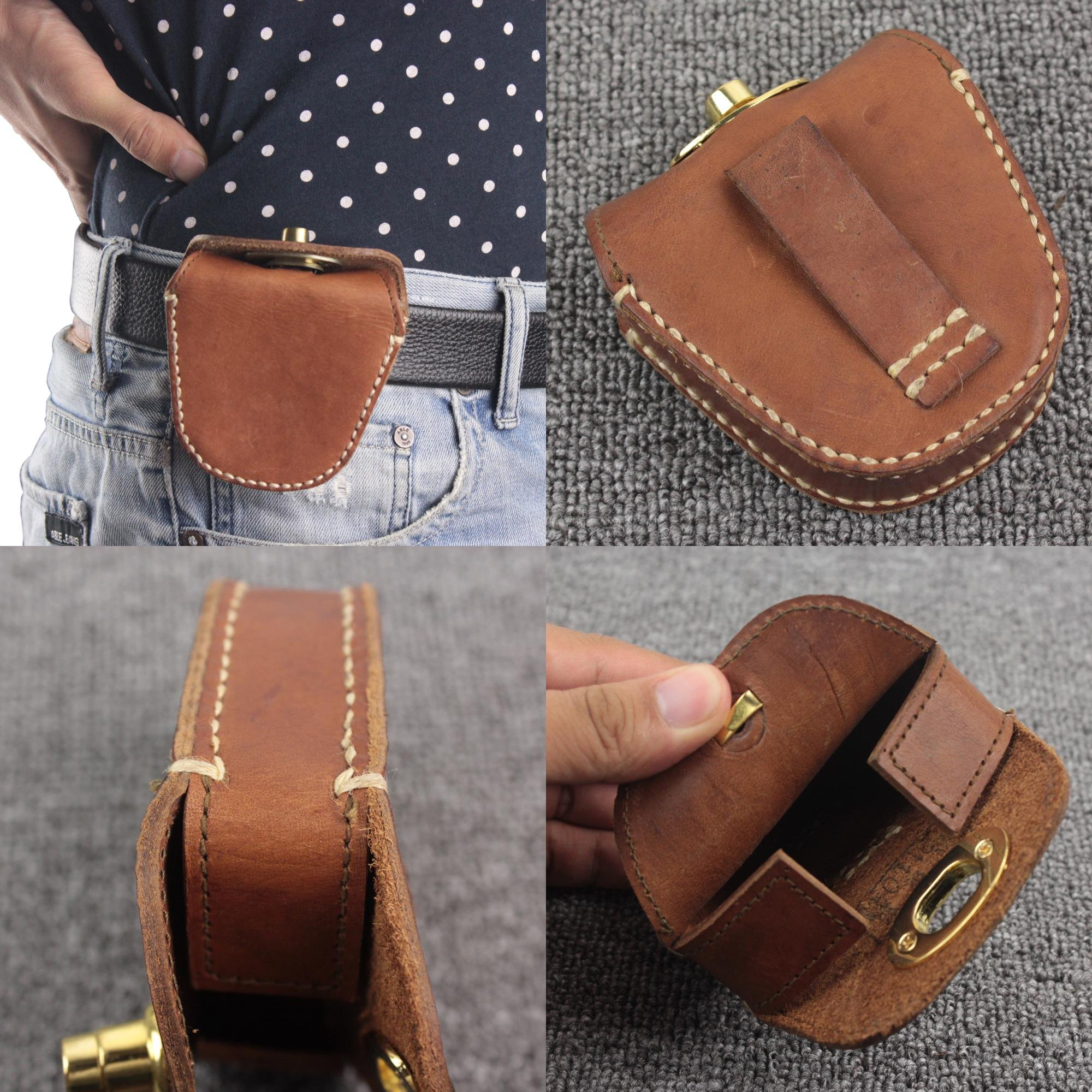 Thick Geninue Leather Handmade Pellets Ammo Storage Bag Pouch hunting outdoor by Unknown (Image #1)