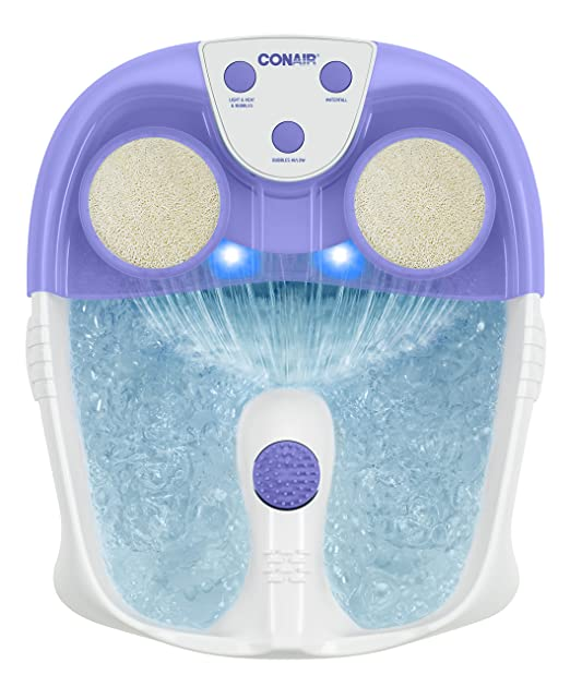 Conair Waterfall Foot Spa with Lights and Bubbles
