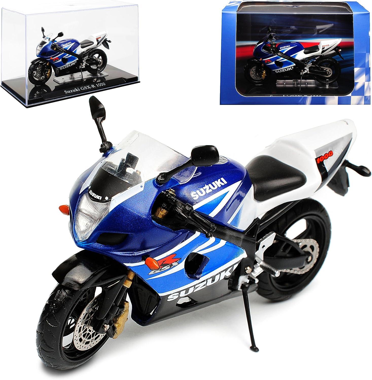 Suzuki Gsx-r Gsx R 1000 R1000 Blau Weiss 1//18 Maisto Modellmotorrad Modell Motor