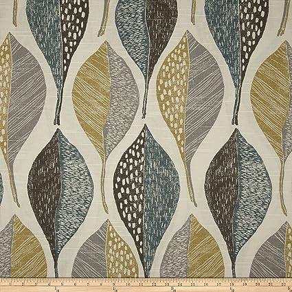 marvelous robert allen home and garden. Robert Allen  Home Woodblock Leaf Rain Fabric By The Yard Amazon com