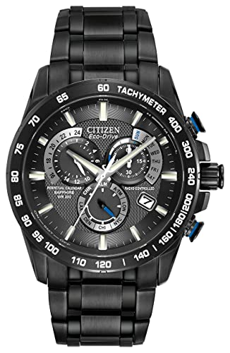 c6a3a7734 Citizen Men's Eco-Drive Chronograph Watch with a Dial and Stainless Steel  Bracelet AT4007-