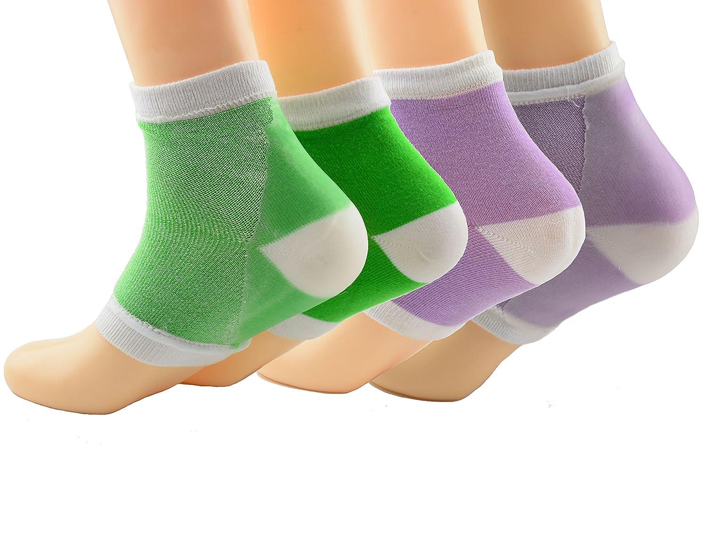 2 Paar Feuchtigkeitsspendende Silikon-Gel-Ferse-Socken für Trockene Harte Rissige Haut Feuchtigkeitsspendende Offene Zehe Comfy Erholung Socken(Schwarzgrau) Makhry MKSB05