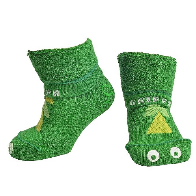 """""""GRIPPA"""" calcetines antideslizantes para niños con diseño dinosaurio, hechos en Gran Bretaña"""