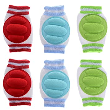 JT-Amigo 3 Pairs Infant Toddler Baby Knee Pad Crawling Safety Protector