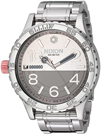 6dcd092eb61 Image Unavailable. Image not available for. Color  Nixon Star Wars 51-30 SW  51mm Watch - Phasma Silver
