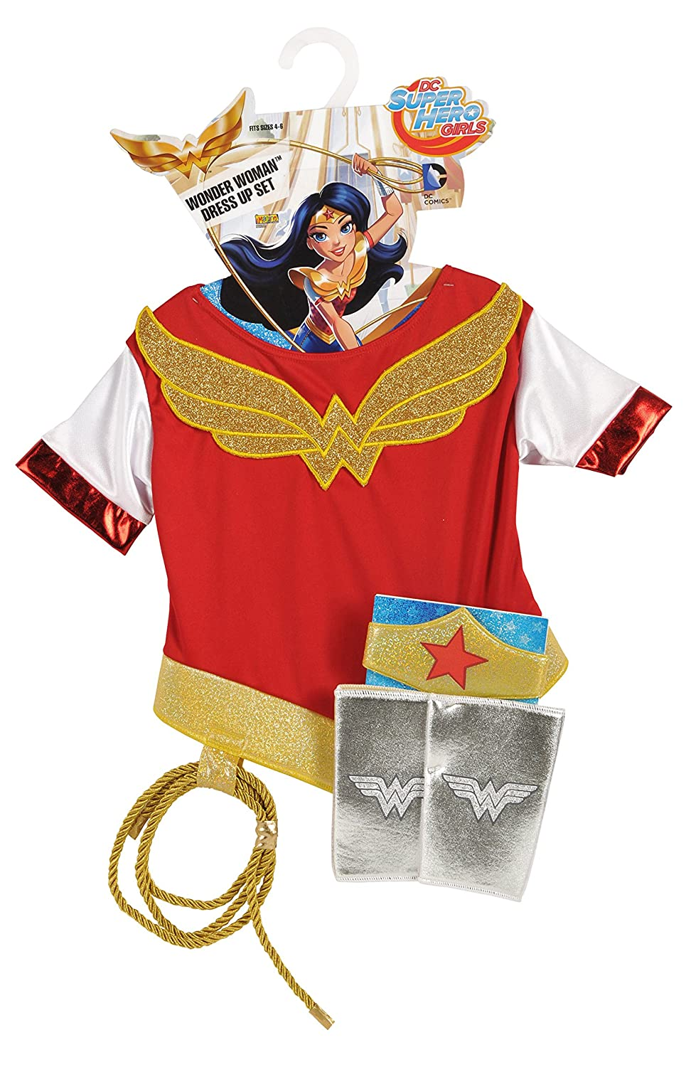 Amazon.com: Imagine by Rubies DC Superheroes Wonder Woman Dress Up Set: Toys & Games