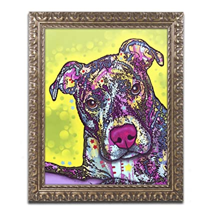 Amazoncom Trademark Fine Art Brindle By Dean Russo Gold