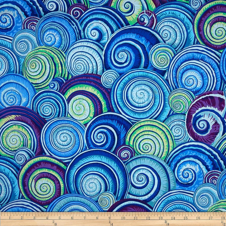 Kaffe Fassett Spiral Shells Blue Fabric by Free Spirit   B07FF4G9H8