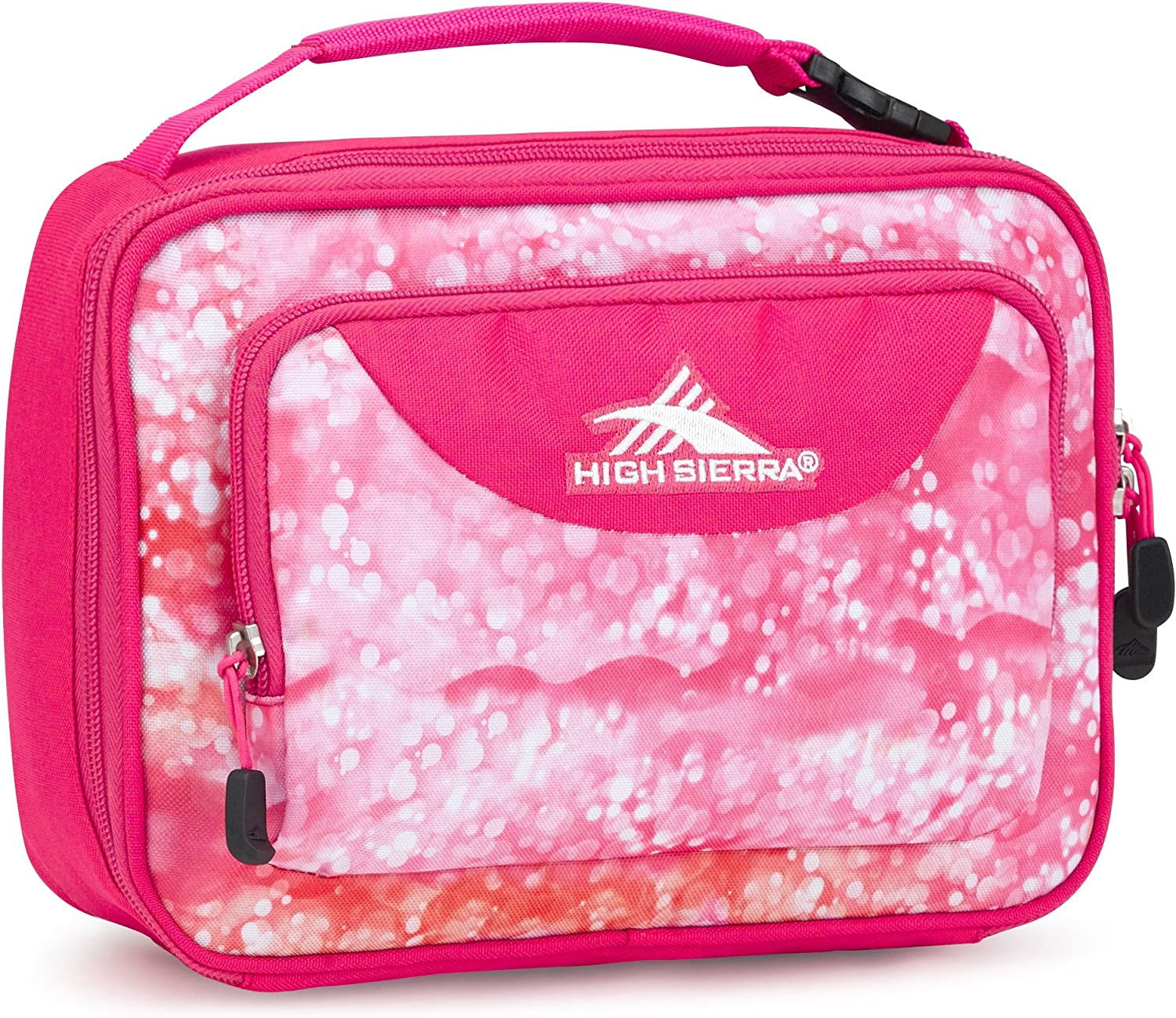 High Sierra Single Compartment Lunch Bag, One Size, Effervescent/Flamingo