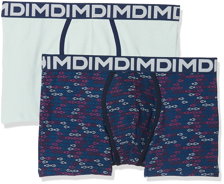 Dim AD0068B.5W650 Bóxer, Azul (Azul 5w6), Medium (Tamaño del Fabricante:3) (Pack de 2) para Hombre