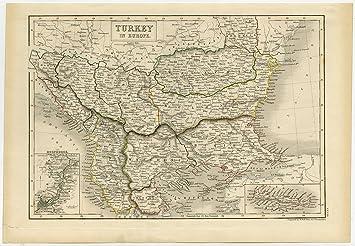 Amazon.de: Antik map-european turkey-bosporus-south East ...