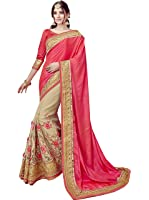 Zofey Georgette Saree With Blouse Piece (Multicolor_Free Size)