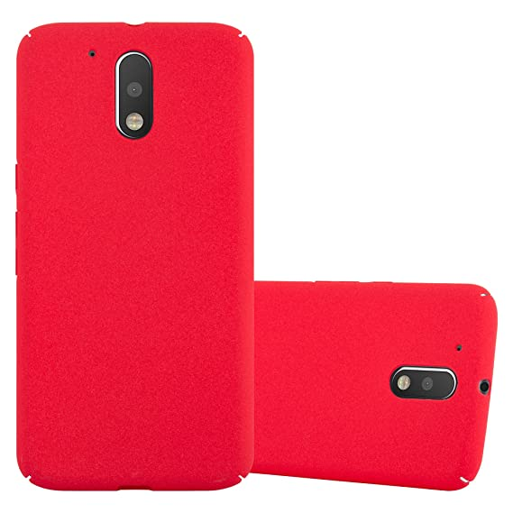Cadorabo Case Works with Motorola Moto G4 / Moto G4 Plus in Frosty RED – Shockproof and Scratch Resistent Plastic Hard Cover – Ultra Slim Protective ...
