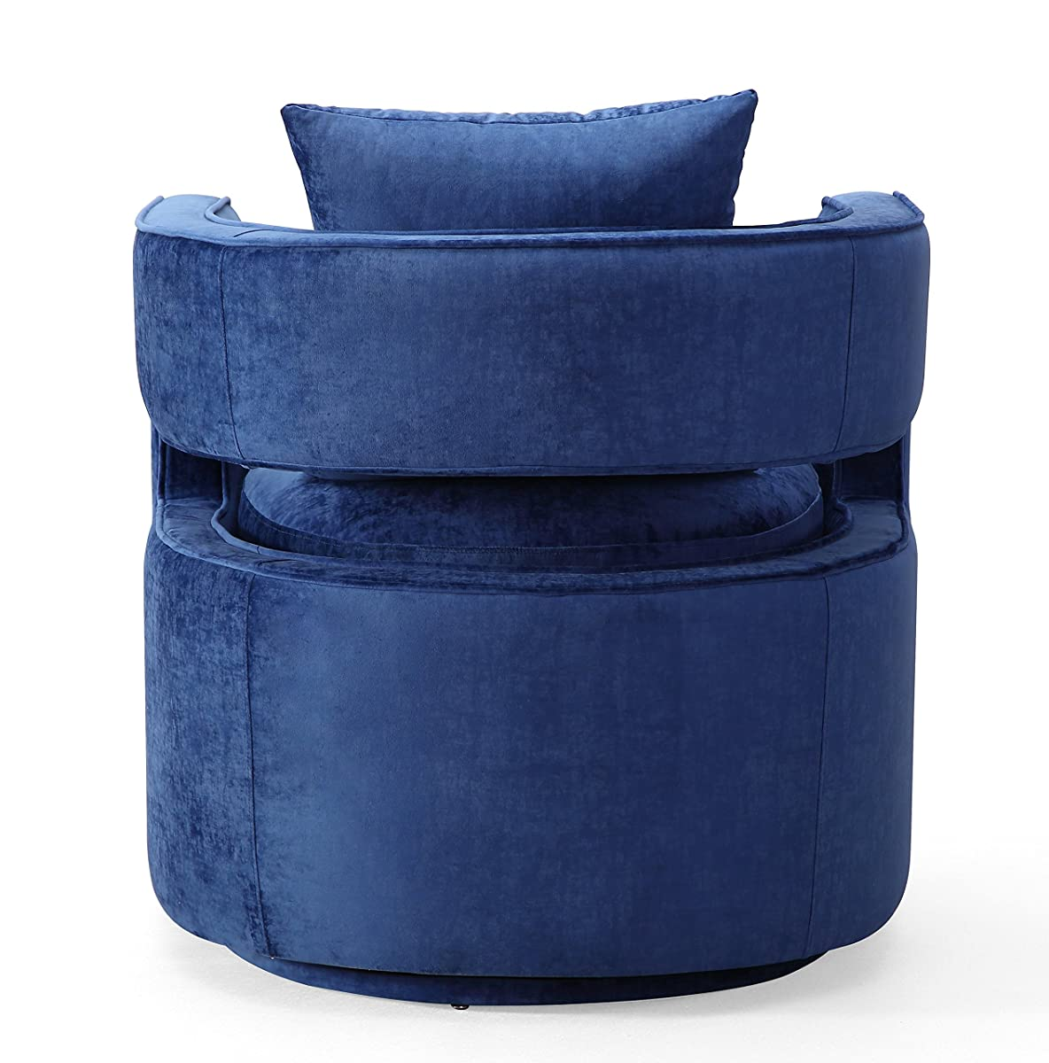 Tov Furniture TOV-L6124 Kennedy Modern Handmade Velvet Swivel Chair, Navy