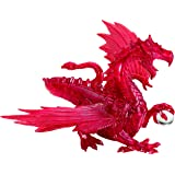 Bepuzzled Deluxe 3D Crystal Jigsaw Puzzle - Red Dragon DIY Assembly Brain Teaser, Fun Model Toy Gift Decoration for…