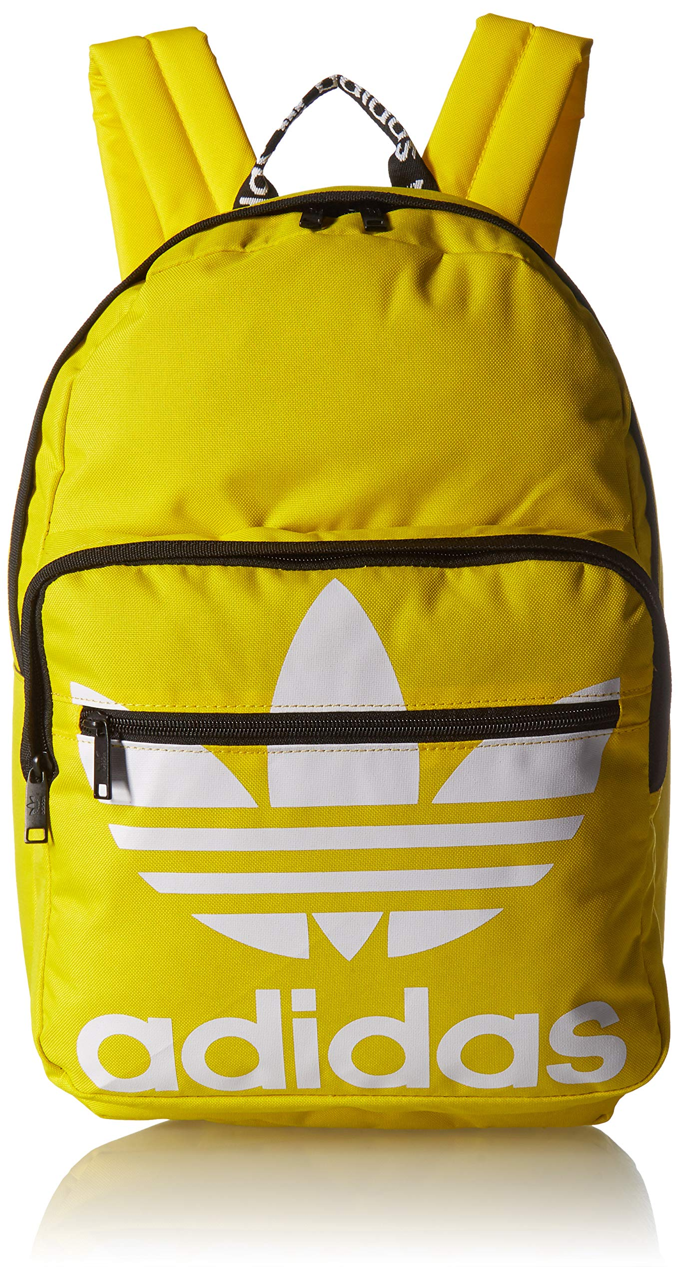adidas Originals Unisex Trefoil Pocket Backpack, Yellow, ONE SIZE by adidas Originals