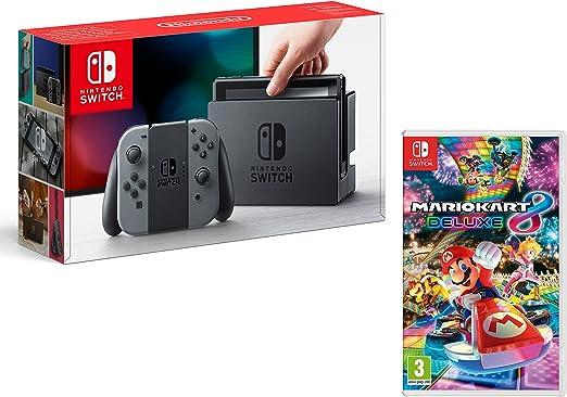 Nintendo Switch Consola 32Gb Gris + Mario Kart 8 Deluxe: Amazon.es ...