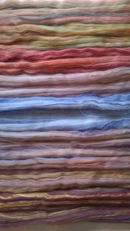 Felting Wool 250g Large Merino and Dyed Bamboo Wool Fibre