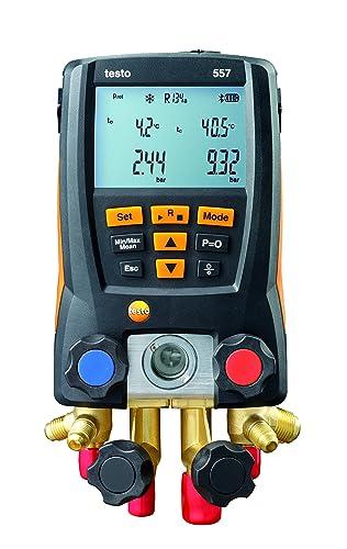 Testo 0563 1557 557 4 Way Valve Digital Manifold Meter Kit with Built in Bluetooth, 3 Height, 5 Width, 9 Length