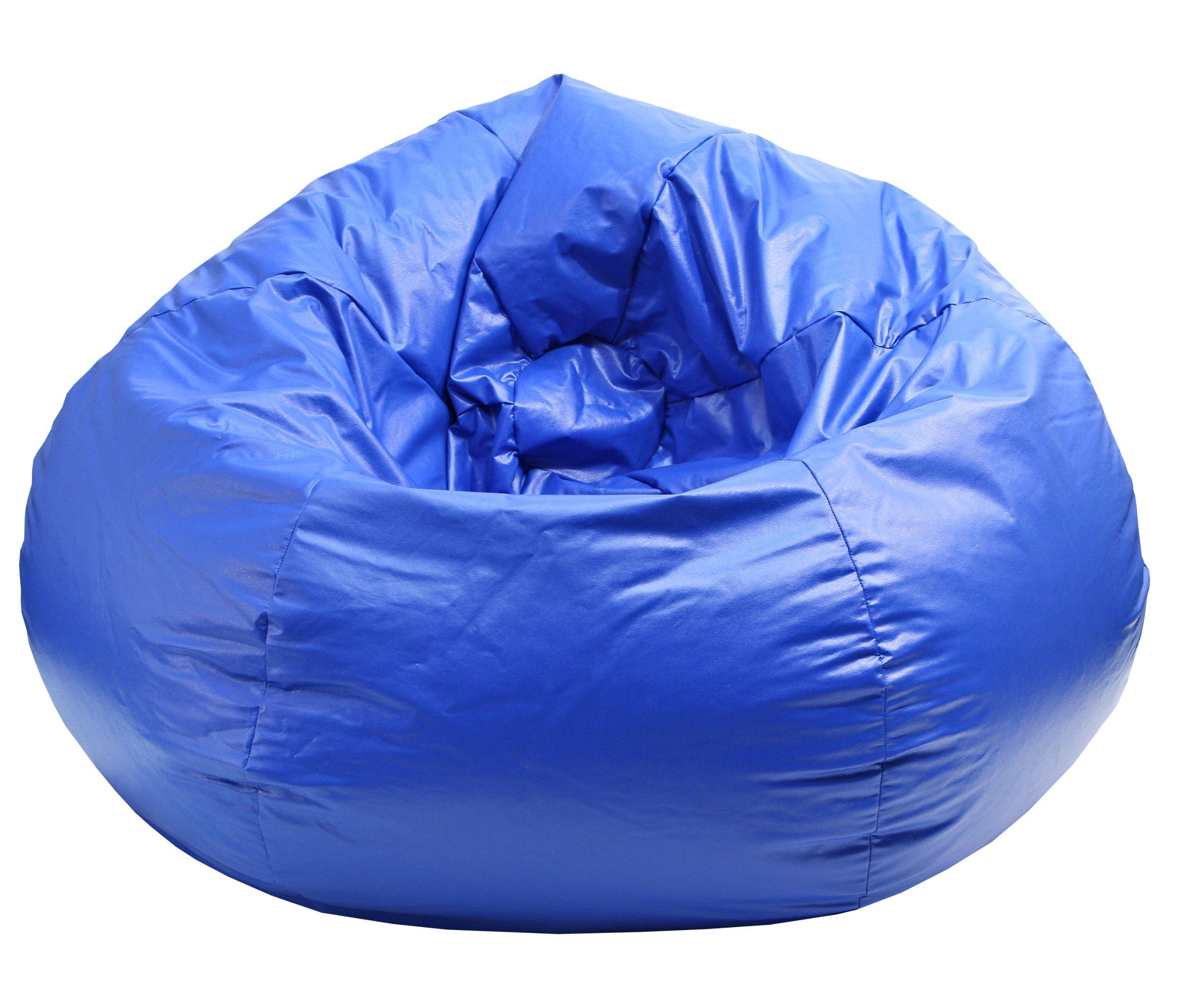 Gold Medal Bean Bags Medium Wet Look Vinyl Beanbag, Tween Size, Blue by Gold Medal Bean Bags