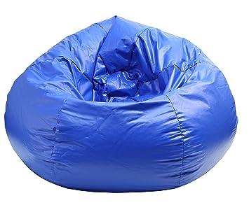 Awe Inspiring Gold Medal 30010509804 Medium Wet Look Vinyl Beanbag Tween Size Blue Beatyapartments Chair Design Images Beatyapartmentscom