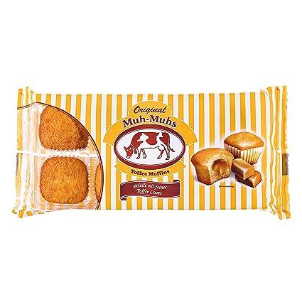 Original Muh-Muhs Toffees Muffins, 8 Pasteles con Relleno de Crema de Toffee,