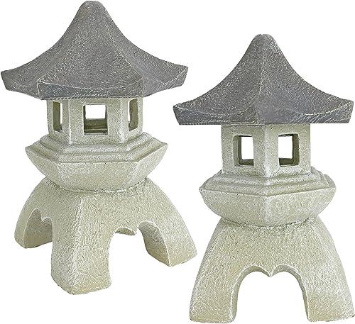 Design Toscano NG729869 Asian Pagoda Statues Medium