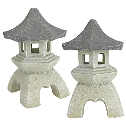 Design Toscano Asian Pagoda Statues Medium   Set Of Two