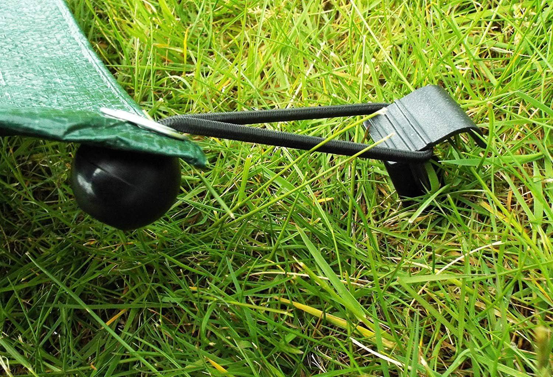 Planenspanner mit Kugel,30 Pack Expanderschlingen Flexibel Spanngummis Gummischn/üre f/ür Banner Tarpaulins Pavilions Zelte Schwarz 20CM