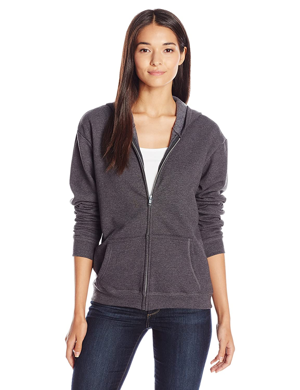 TALLA M. Hanes Womens Comfortsoft Ecosmart Full-Zip Hoodie Sweatshirt (O4637)