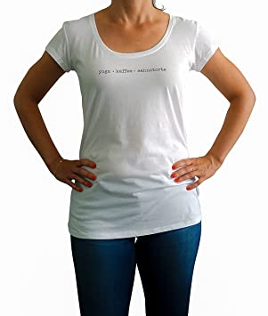 IckeMe Yoga Day Basic - Camiseta de Mujer con Texto Impreso ...