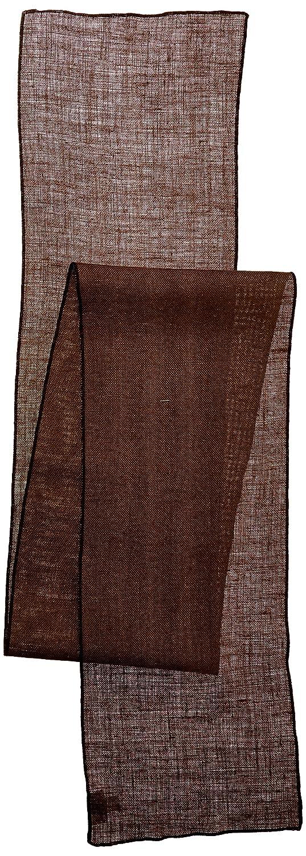 La Linen Dyed天然黄麻布テーブルランナー14 by 108-inch ブラウン TCBurlap14x108_Brown  ブラウン B01G6239BC