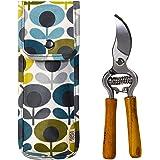 Orla Kiely Gartenschere und Tasche, oval & mit Blumen-Aufdruck,Blau/Grün