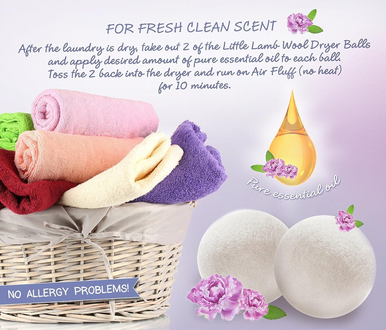 Fuchsia Little Lamb Wool Dryer Balls X Large No Fillers 6 Pack
