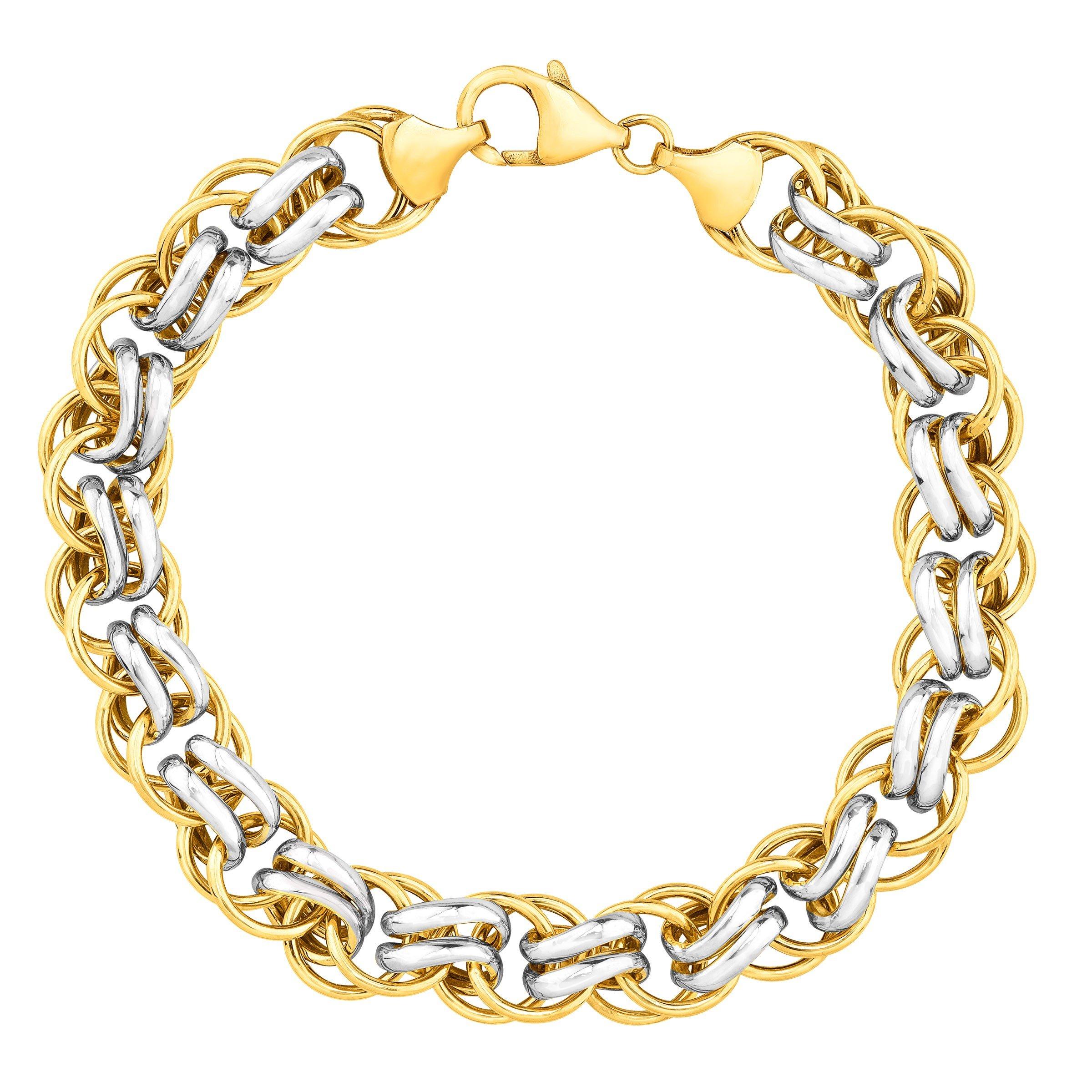Double-Link Bracelet in 14K Gold-Bonded Sterling Silver, 7.5''