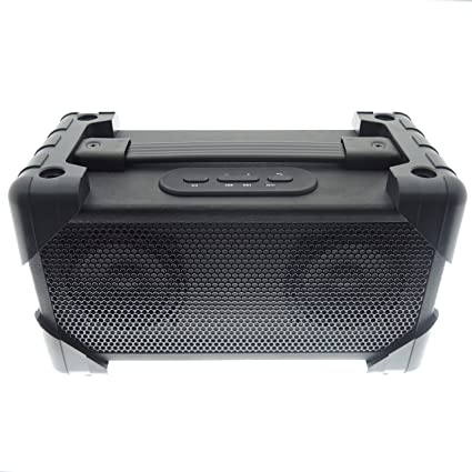 Vivitar V9BT-BLK Bluetooth Retro Boom Box Speaker, Black